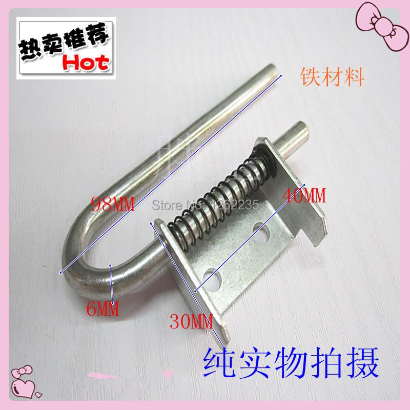 98*6 iron spring bolt: ijzer kast deur scharnier: ijzer poort ijzer scharnier kastdeur industrie(China (Mainland))