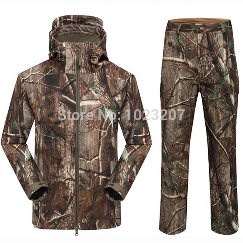 TAD Shark Skin Camouflage Military Jacket Men Suit Waterproof Tactical Hoodies Army Jackets + Pant - E-Happymarketing Co., LTD (Min order is $10 store)