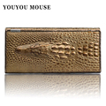 New Arrival Alligator Pattern Design Women Wallets High Quality Genuine Leather Money Bag Lady Clutch Coin