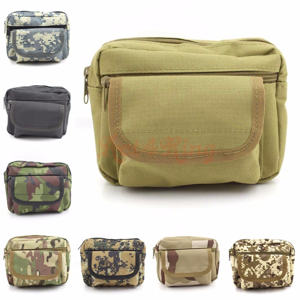 Military Assault Waist Pack Tactical Velcro Waist Bag Army Molle Pouch Utility Mess Bag for Outdoor Sports(China (Mainland))
