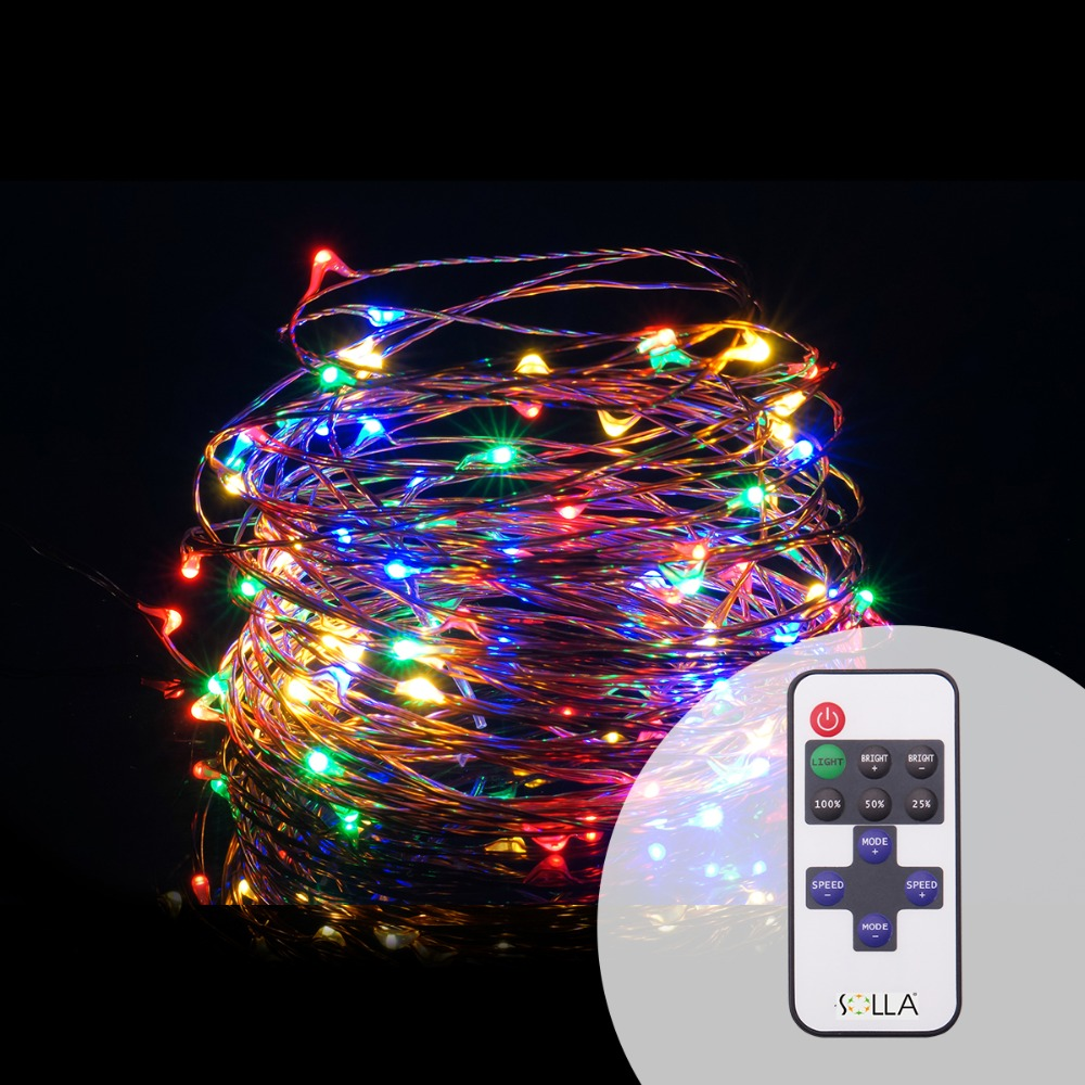 Newest 10M 33FT 100 Led 5V USB Christmas Lights Copper Wire Fairy String Light luces +Dimmable Flash Remote Controller+Reciever(China (Mainland))