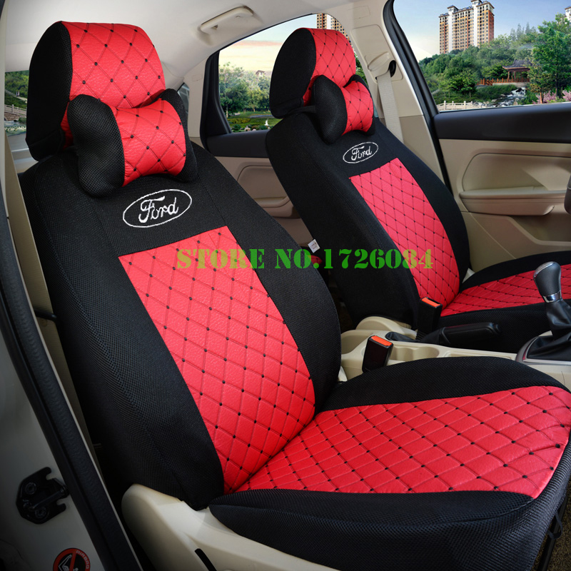 2 front seat universal car seat cover for ford mondeo focus fiesta edge explorer taurus s max. Black Bedroom Furniture Sets. Home Design Ideas