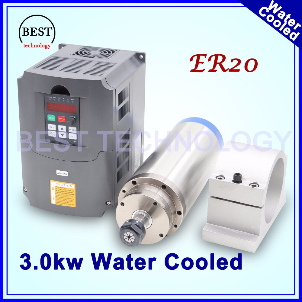 Buy cnc router spindle motor 3kw er20 for Best router motor for cnc