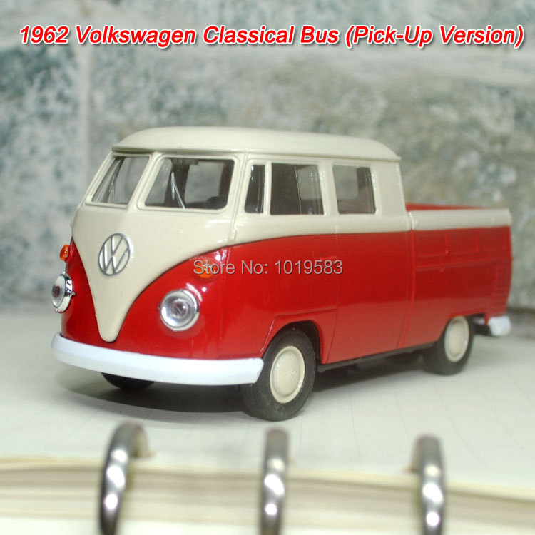 (5pcs/pack) Wholesale Brand New 1/36 Scale Diecast Car Model Toys Pick-Up Version 1962 Volkswagen Bus Metal Pull Back Car Toy(China (Mainland))