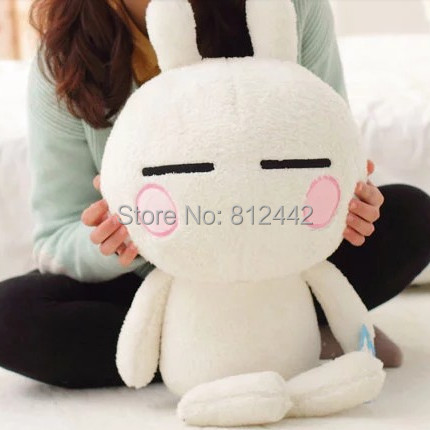 1 Piece 60cm Kawaii Cute Large Size Bunny Stuffed Animal Tuzki Rabbit Plush Toy Doll For Kids Girlfriend Birthday Gift brinquedo(China (Mainland))