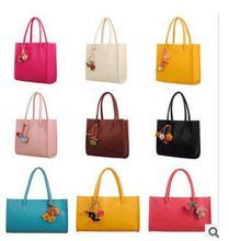Handbag candy colored flowers fringed bag section crosses the vertical cross-section portable shoulder bag Post