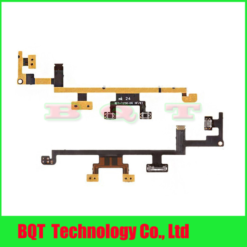 Replacement Power Flex Cable For ipad 3 On/Off Button Switch Volume Control Flex Cable Ribbon 100% Guarantee Free shipping(China (Mainland))