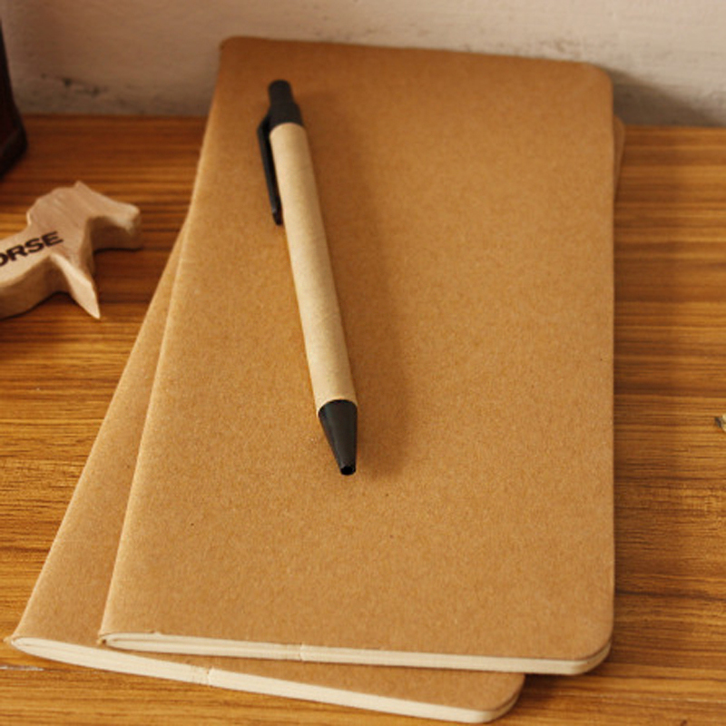 How To Cover A Notebook With Cover Paper : Cowhide paper notebook blank notepad book vintage soft