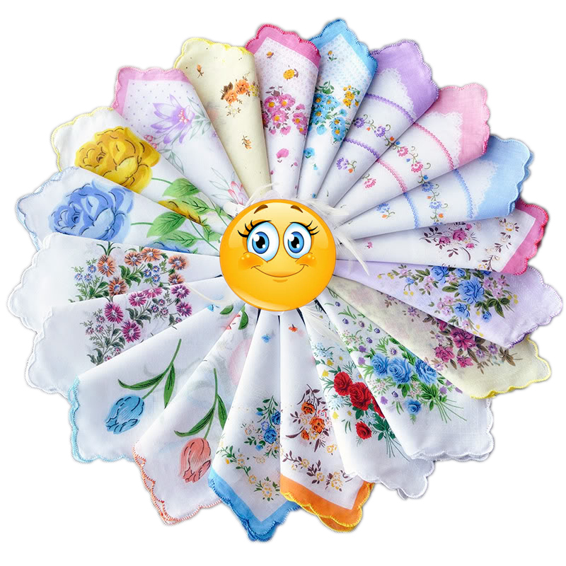 20/30 pcs new arrive Ladies Vintage Cotton Flower floral Embroidered pocket squares Handkerchiefs very beautiful FS0441(China (Mainland))