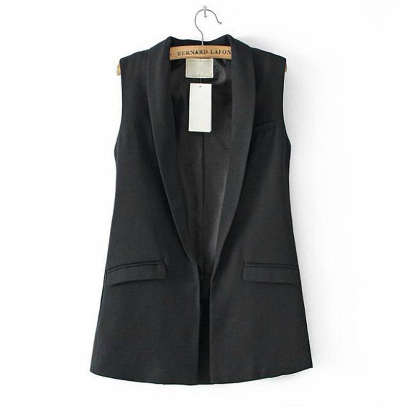 New arrival Women Sleeveless V Neck Long  OL Jacket Suit Coat Outwear Hot SaleОдежда и ак�е��уары<br><br><br>Aliexpress
