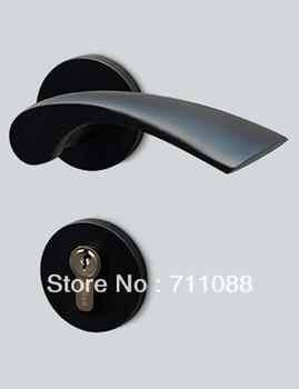Interior bedroom house door handles European mechanical locks Hardware Lock for door's thickness 35-45mm