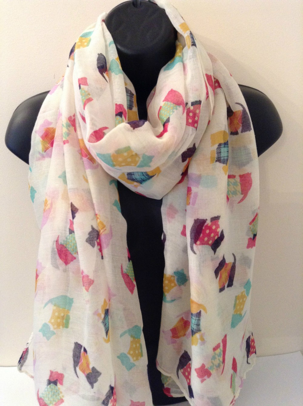 Jack Russell Terrier Scarf Wrap Pashima Shawl Cotton Dog Lovers Gift