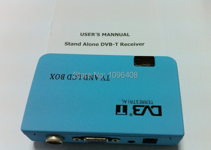 Digital Terrestrial Stand alone DVB-T Receiver,Watch DVB-T LCD TV Box on PC monitor, VGA Output for LCD/CRT Monitor(China (Mainland))