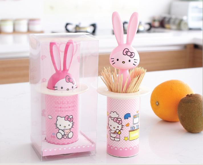 Cartoon hello kitty automatic toothpick holder pocket fashion small portable shaped creative - Pocket toothpick dispenser ...
