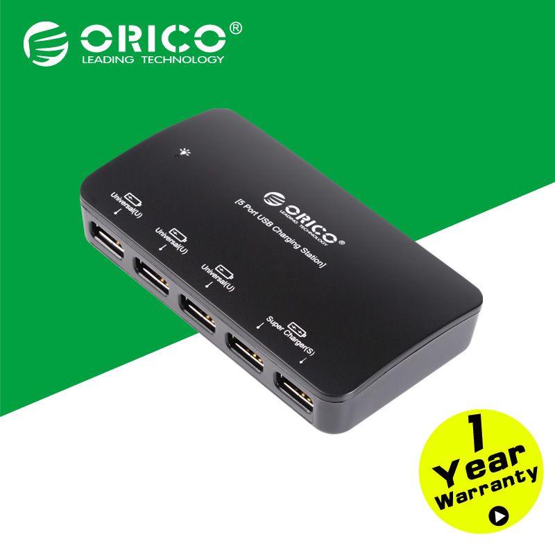ORICO DCP-5U-BK 5 Port Universal USB Desktop Charger for IPad IPhone Samsung Tablet-Black(China (Mainland))