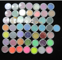 Free shipping 50 COLOUR PARTY Nail Art Glitter Dust Eyeshadows BODY PIGMENT /hair Powder#UAG50(China (Mainland))