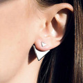 New Summer Style Gold Color Silver Color Triangle Stud Earrings For Women Fine Jewelry bijoux brincos