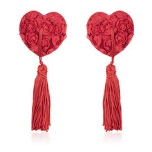 Buy 1 Pair Boobie Tassels Rose Silicone Nipples Paste Sexy Lingerie Milk Cover Accessories 2Colors