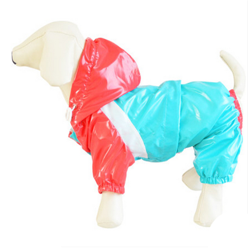 Pet Dog Raincoat Yellow Waterproof Pet Products Poncho Windproof Warm Hoodie Teddy Jumpsuit Large Jackets Dog Rain Coats 701344(China (Mainland))