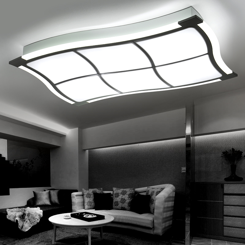 Brief living room ceiling lamps luminarias de led ceiling for Living room ceiling light fixture