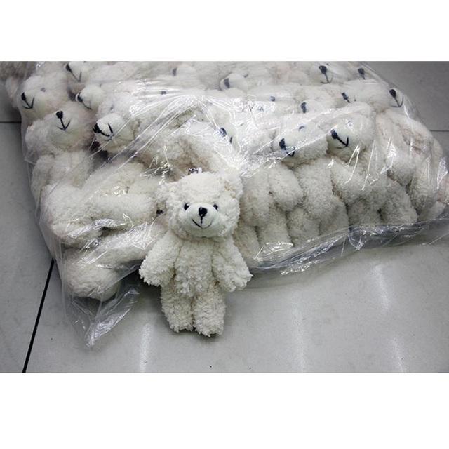 50 шт./лот Мини Совместное Плюшевый Мишка плюшевые игрушки цепи белый клейкий медведи 12 см животных для Свадьбы peluches bicho ursinho де pelucia