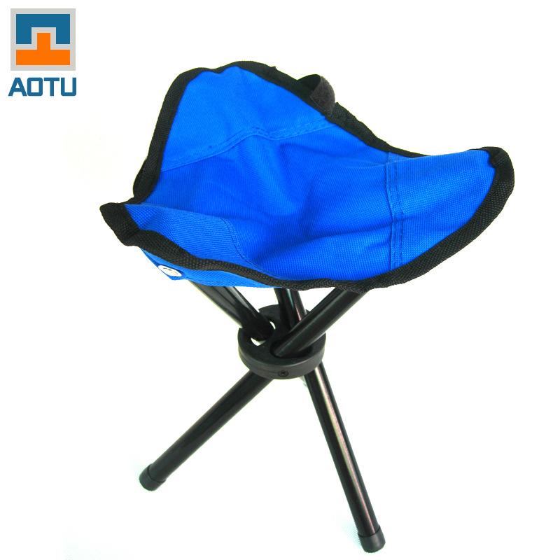 2pcs Outdoor Beach Chair Portable Aluminium Alloy Chair Foldable Fish Chair Bump trumpet folding chair three legged stool train(China (Mainland))