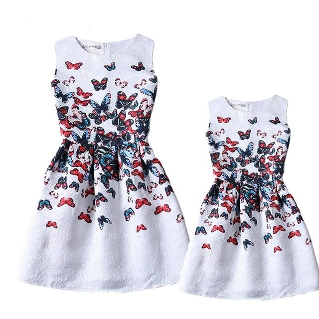 2016 мать дочь платья лето стиль семьи сопоставления одежда девочек семья глядя одежда ...