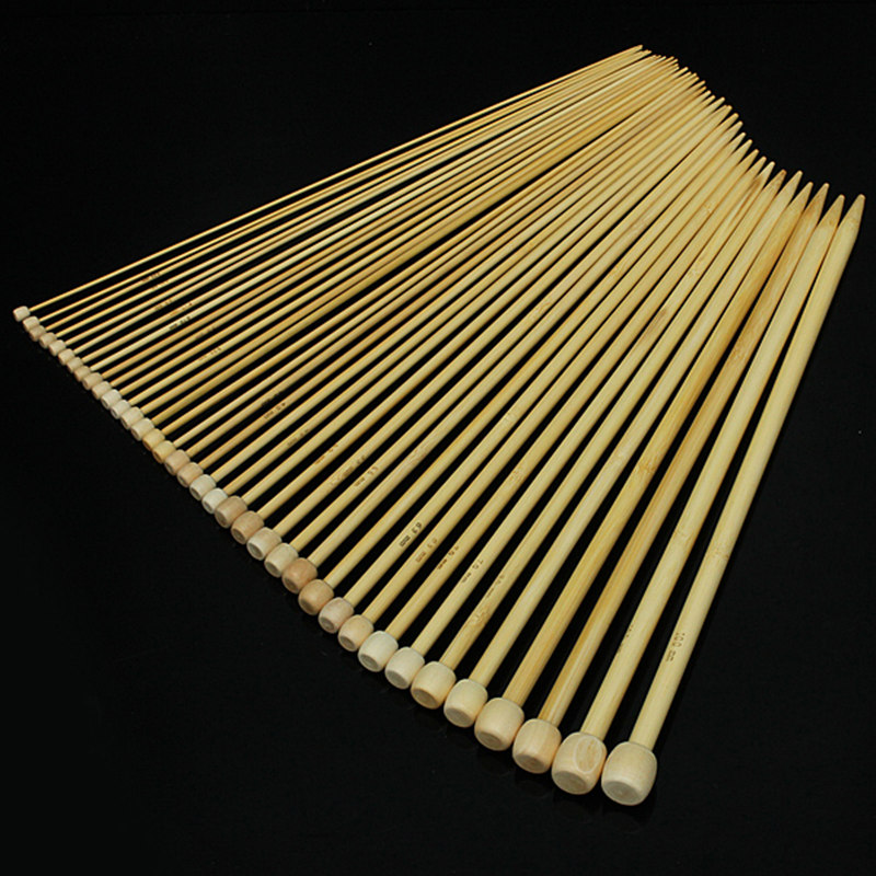 Гаджет  New 36Pcs 2-10mm Bamboo Knitting Needles Smooth Crochet Single Pointed 18 Sizes Free Shipping None Дом и Сад