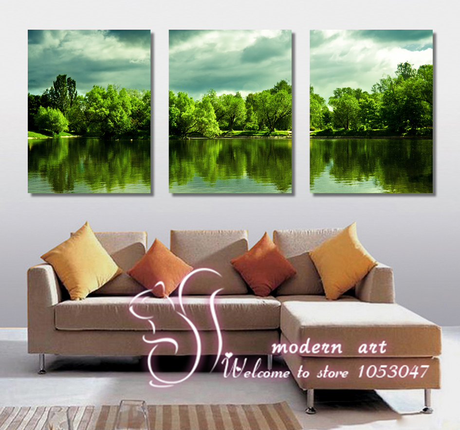 Free shipping 3 piece wall pictures for living room home for Piece of living room decor