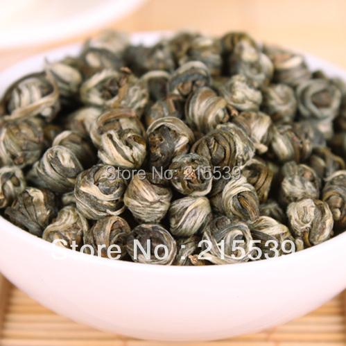 [GRANDNESS] Fresh Flower tea jasmine dragon pearl 100 green tea flower tea fragrant 100g jasmin green tea ball(China (Mainland))