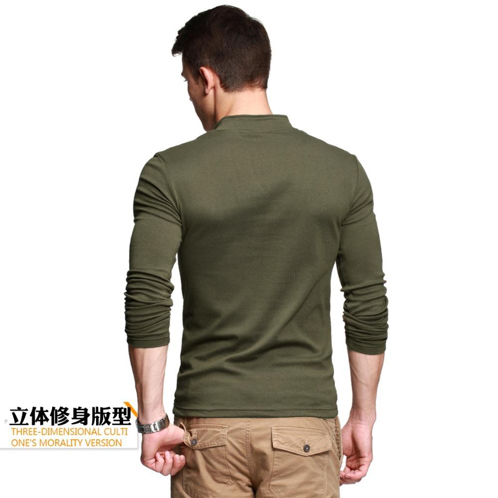 thick t shirt men 39 s long sleeve brand tee v neck t shirt