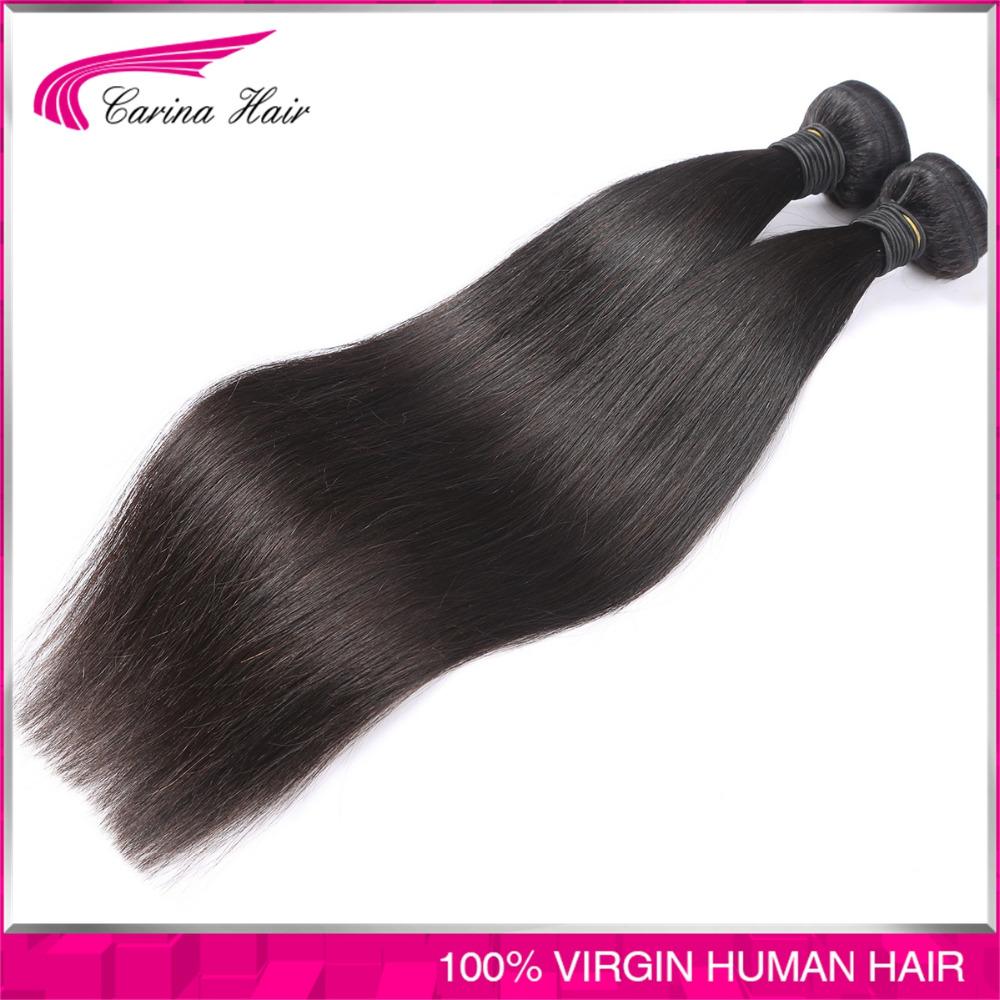 Carina Hair Products 2pcs/lot Brazilian Virgin Hair Straight Unprocessed Brazilian Human Hair Weaves Bundles Hot Selling <br><br>Aliexpress