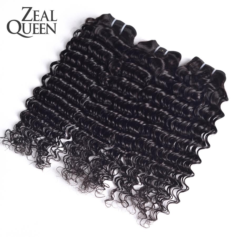 Rosa Hair Products Brazilian Deep Wave Virgin Hair 3Pcs/Lot Brazilian Deep Curly Virgin Hair 7A Brazilian Deep Wave Curly Hair