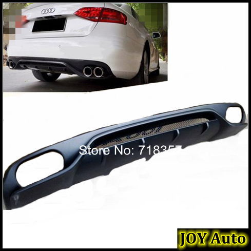 PU primer AB-T style car rear bumper boot lip cover, auto diffuser Audi A4 B8 2009-2012 - JOY Shopping Auto Parts Co. Ltd store