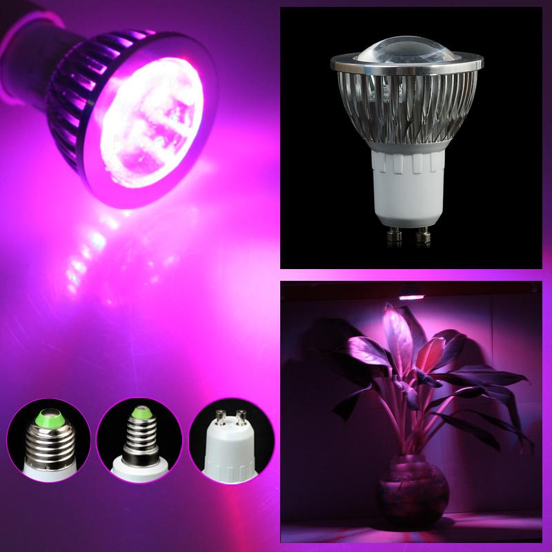 Full spectrum LED Grow lights 5W Gu10 LED Grow lamp bulb for Flower plant Hydroponics system AC 85V 85-- 265V grow box(China (Mainland))