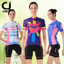 Cheji Bike Jersey Short-sleeved Suit Jacket Female Summer Breathable Cycling Clothing KISS Colorful