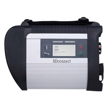 Latest Version 12/2015 MB SD CONNECT C4 Star Diagnosis System Mian Unit without cables for BEN Z12V + 24V Car and Bus free DHL(China (Mainland))