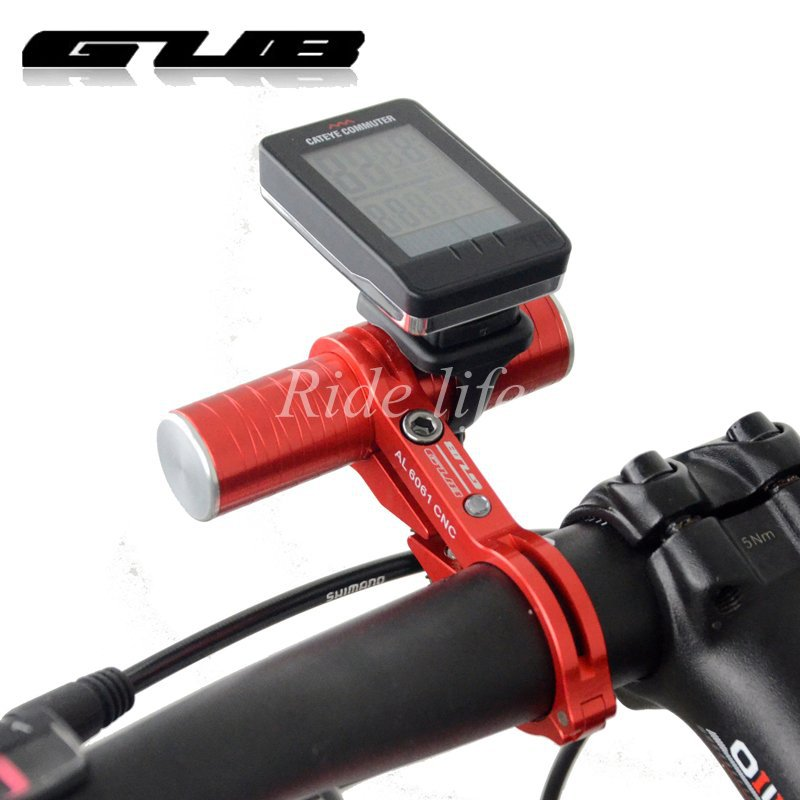 Road Bicycle MTB bike handlebar extensions mount GUB G328 CNC Aluminum extender light holder head extended clip 31.8MM - FIGHTER SPORTING GOODS CO.,LTD store