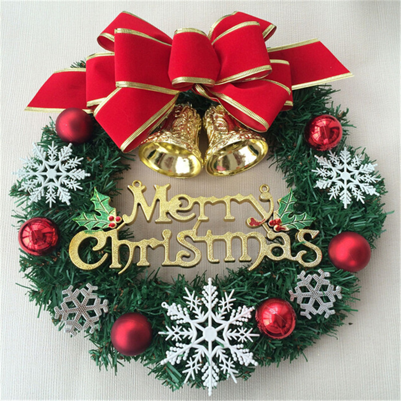 Large outdoor christmas decorations christmas wreath for Christmas decoration stuff