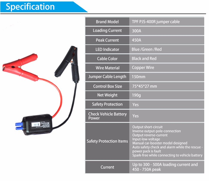 High Quality Smart Clips For Car Jump Starter Battery Short Circuit Overcharge Constant Regulator Protecting Car Battery