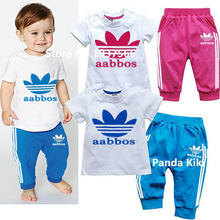 2016 Brand New Summer Boys Clothes Rabbit Children Clothes For Boys Toddler Baby Boys Clothing Set Short Sleeve T Shirts+ Pant
