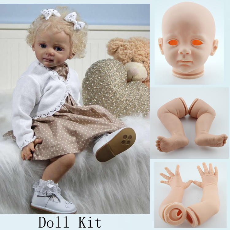 Soft Reborn Toddler Doll Kits Blank DIY Reborn Baby Doll Fridolin Accessories For 24 inches Baby Dolls(China (Mainland))