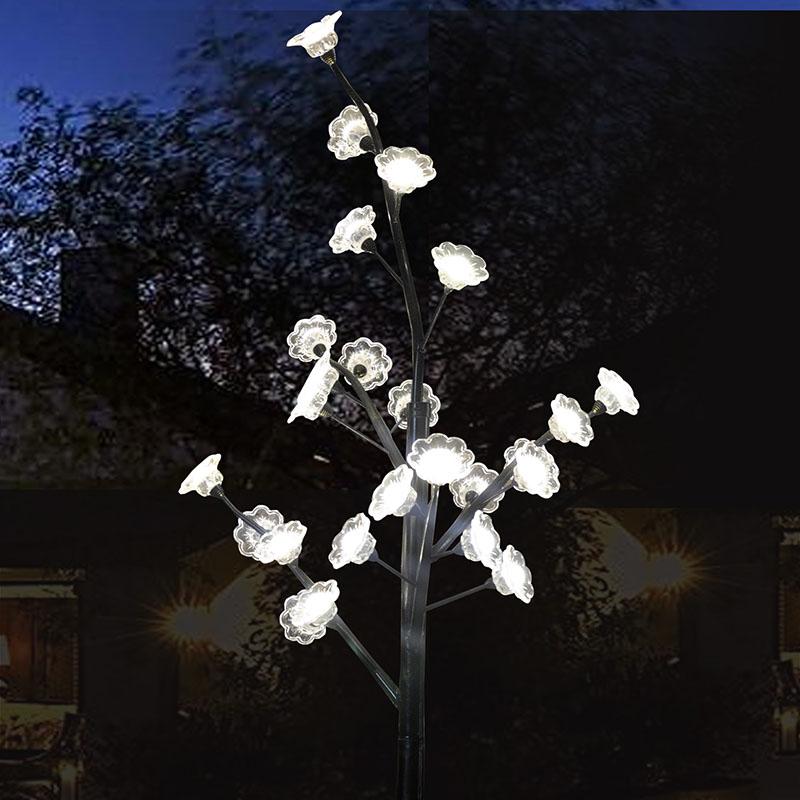 2.2Meters 25 LEDS holiday led cherry blossom tree light 75W led flower light christmas decoration free shipping(China (Mainland))