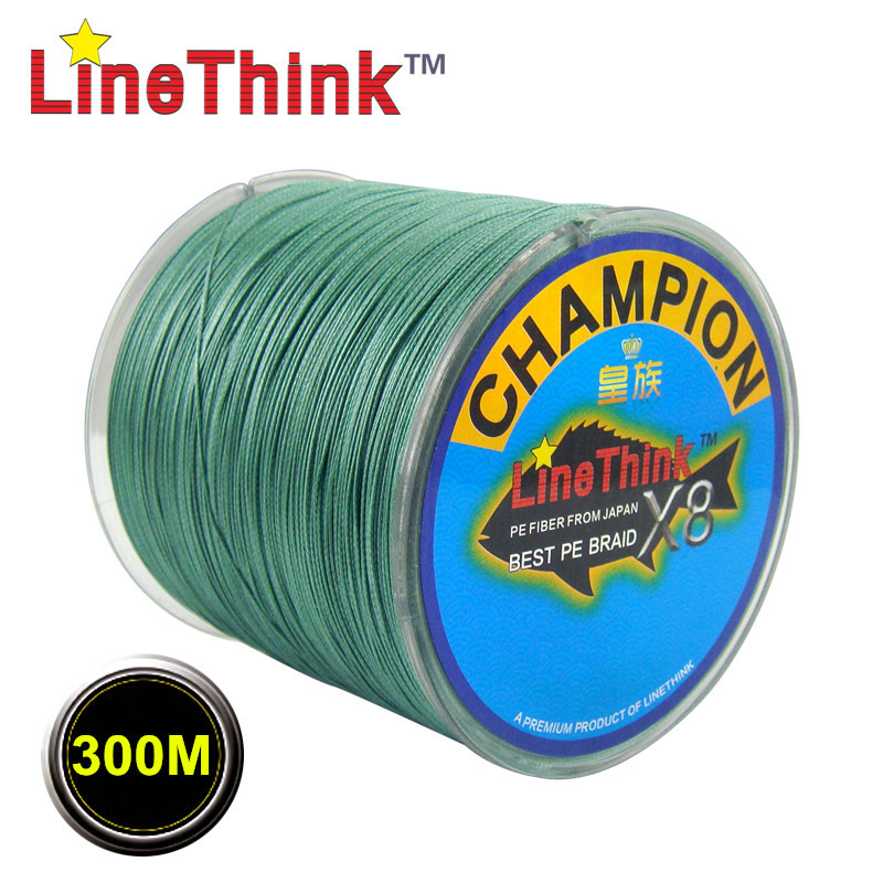 300m ghampion linethink brand 8strands 8weave best quality for Best fishing line brand