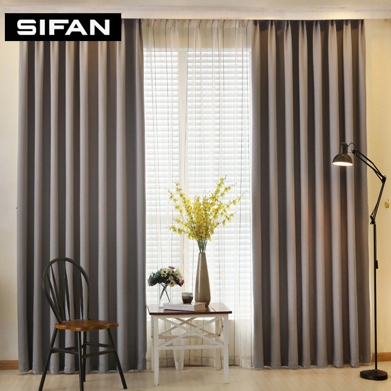 Solid Color Faux Linen Blackout Curtains for Living Room Modern Curtains for Bedroom Window Curtains kitchen Curtains Blinds(China (Mainland))