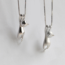 Buy Women 925 Sterling Silver Necklaces Cute Cats Pendants Necklaces Pure Sterling Silver 925 Kitty Necklace Fashion Elegant Jewelry for $3.45 in AliExpress store