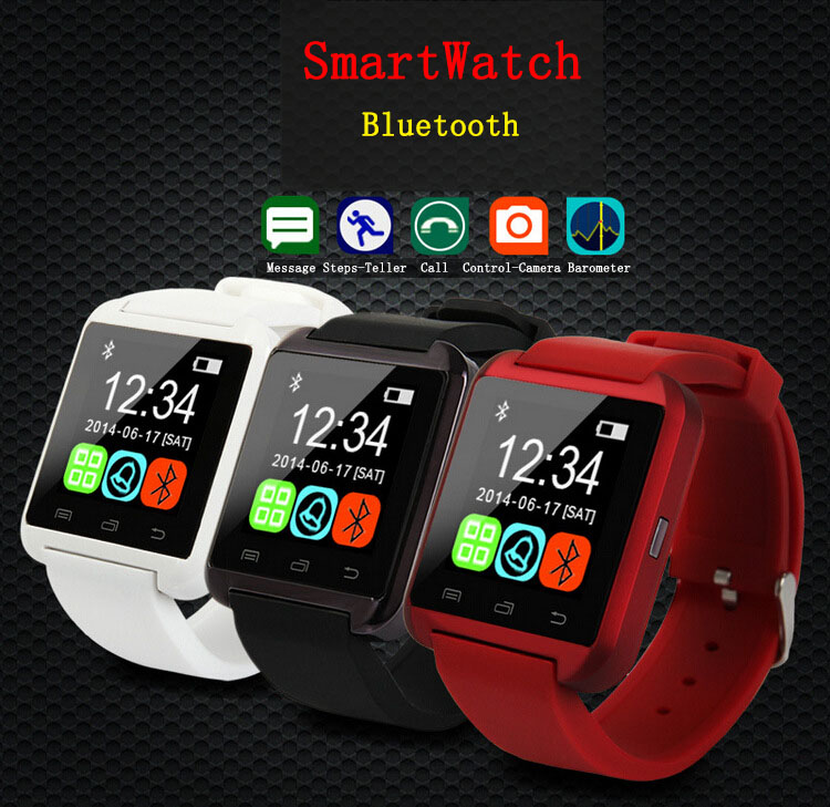2015 Bluetooth SmartWatch U8 For Android Phone WristWatch Smartphone For MTC 968 982T 982o Smart Start Sprint Run Smart Watch(China (Mainland))