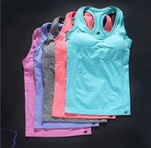 2015 new GYM sport Women running Tank Tops Elastic Breathable Fitness Comfortable Vest quick fast drying Tank Top tees(China (Mainland))