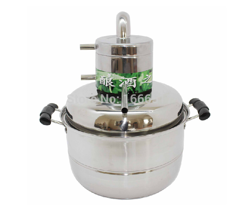 Free ship new 10L Water Alcohol Distiller Home Brew Kit Still Wine Making Essential Oil Boiler(China (Mainland))
