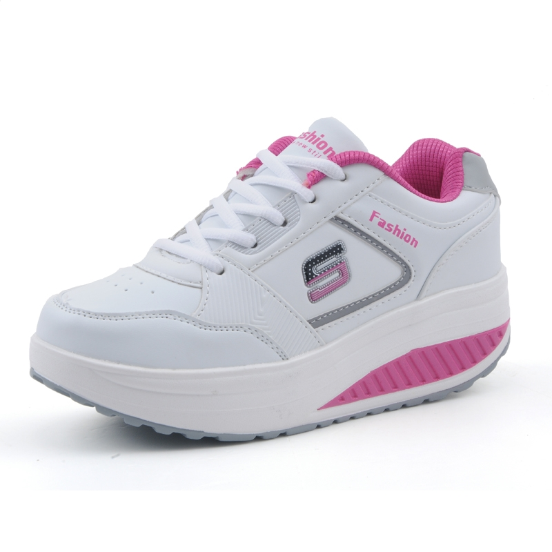 Slimming women running shoes women sneakers Women Platform Fitness Shoes Lady Beauty Swing Fitness shoes A681(China (Mainland))